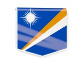 Flag label of marshall islands — Stock Photo