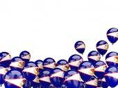 Flying balloons with flag of american samoa — ストック写真