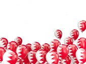 Flying balloons with flag of bahrain — Stock Photo