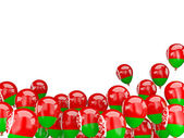 Flying balloons with flag of belarus — Stock Photo