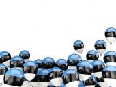 Flying balloons with flag of estonia — Stock Photo