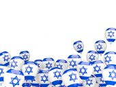 Flying balloons with flag of israel — Stock Photo