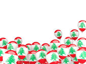 Flying balloons with flag of lebanon — Stock Photo