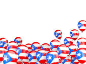 Flying balloons with flag of puerto rico — Stock Photo