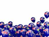 Flying balloons with flag of saint helena — Stock Photo