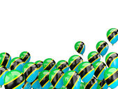 Flying balloons with flag of tanzania — Stock Photo