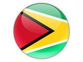 Round icon with flag of guyana — Stock Photo