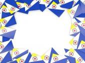 Marco con bandera de bonaire — Foto de Stock
