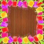 Bright Tulip Flower Frame — Stock Vector #56054229