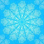 Shiny Blue Lacy Decoration Card — Stock Vector