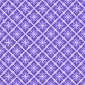 Seamless Purple Floral Geometric Pattern — Stock Vector