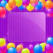 Framework with Colorful Party Balloons — Stock Vector