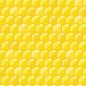 Yellow Honey Comb Seamless Pattern — Stockvektor