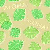 Aloha Hawaiian Seamless Pattern — Stock Vector