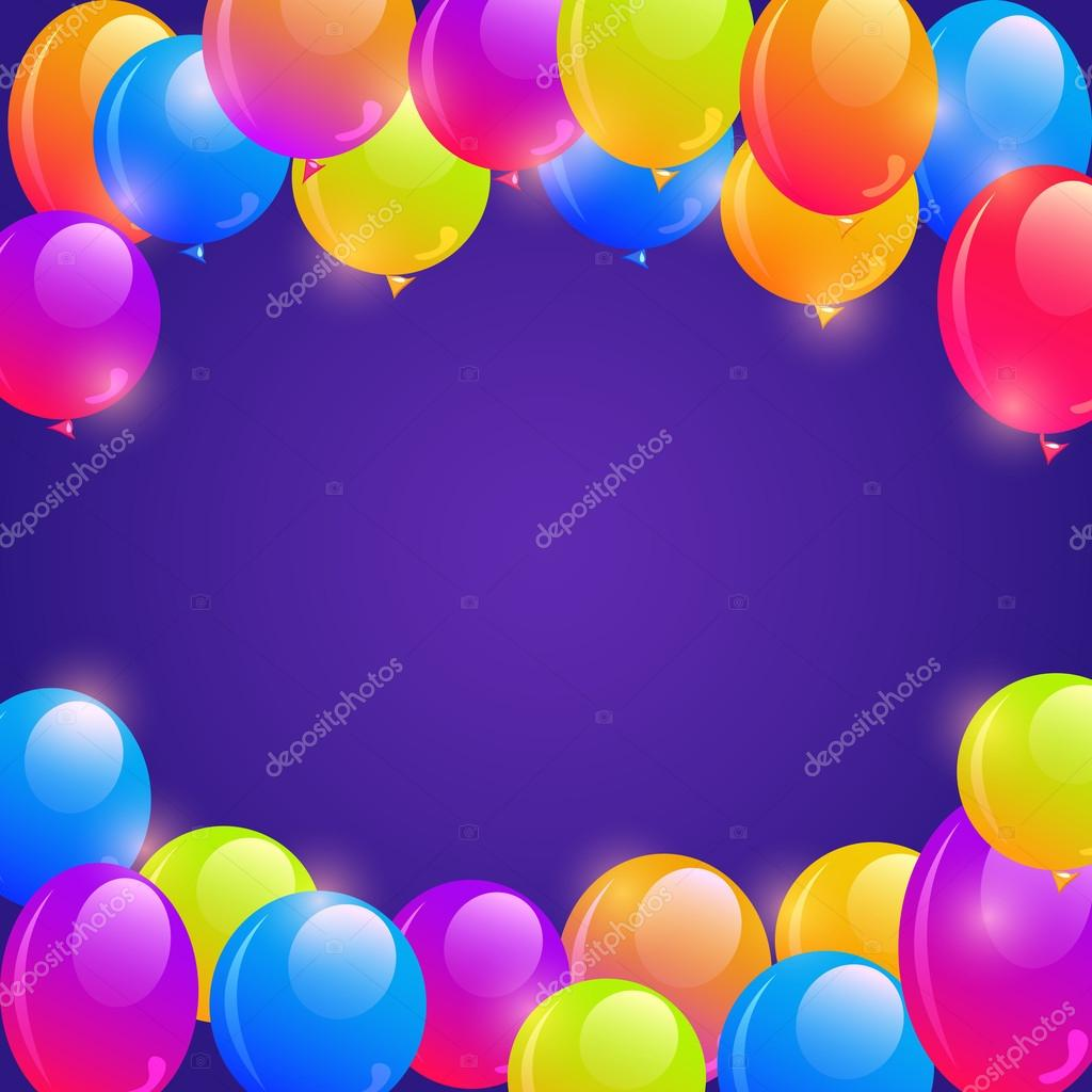 bright balloon frame background stock vector nikifiva 56053011