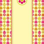 Yellow Pink Retro Card — Stock Vector #58501099