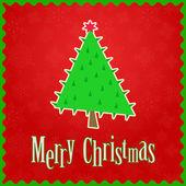 Einfache weihnachtsbaum — Stockvektor