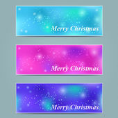 Starry Christmas Banner — Stok Vektör