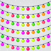Holiday String Lights Bulb — Stock Vector