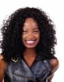 Happy Smiling Portrait Young Attractive Black Teen  — Foto de Stock