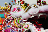 Side of Chinese Dragon Head Outdoors Parade — Foto de Stock