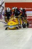 Bobsleigh World Cup  Calgary  Canada   2014 — Stockfoto