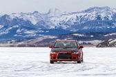 Racing On Ice — Foto de Stock