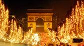 Paris, Champs-Elysees at night — Stock Photo