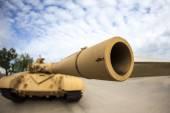 Боевой танк Т-72 Мэн — Стоковое фото