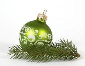 синий рождественский шар — Стоковое фото
