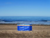 Alone on the beach — Stock Photo