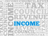 Income Tax abstract — Stock Photo