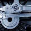 Railway engine wheel — Stock Photo #55138343