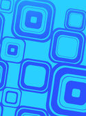 Blue squares on cyan — Stock Photo