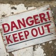 Danger Keep Out sign — Stock Photo #64744561