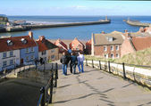 Whitby visitors — Stock Photo