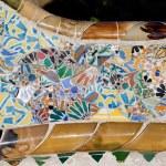 Trencadis Mosaic at Gaudi Park Guell in Barcelona — Stock Photo #52374637