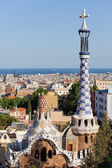 City of Barcelona from Park Guell — Stock Photo