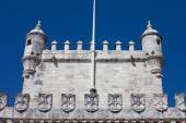 Battlements of the Belem Tower — Stock Photo