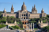 National Art Museum of Catalonia at Montjuic in Barcelona — Stock Photo