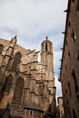 Gothic Architecture of the Barcelona Cathedral — Stock Photo