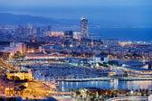 Barcelona Cityscape by Night — Stock Photo