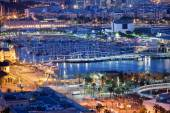 City of Barcelona by Night — Stock Photo