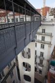 Footbridge of the Santa Justa Lift in Lisbon — Stock Photo