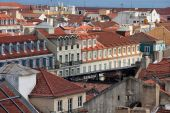 Rooftops of Lisbon in Portugal. — Stock Photo