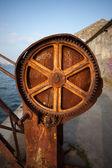 Old Rusty Crane Gear — Stock Photo