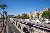 Ronda Litoral Motorway in Barcelona — Stock Photo