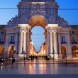 Rua Augusta Arch at Dusk in Lisbon — Stock Photo #55292305