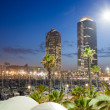 Port Olimpic Marina at Night in Barcelona — Stock Photo #55292471