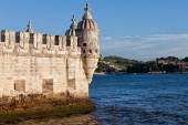 Belem Tower Fortification on the Tagus River — Stock Photo
